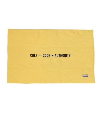 Chef = Cook + Authority Tea Towel